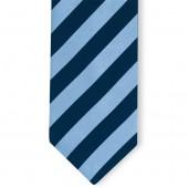 Stropdas Marineblauw-Lichtblauw gestreept