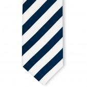 Stropdas Marineblauw Wit gestreept